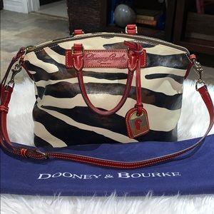 Dooney & Bourke Vintage Zebra Italian-Leather Tote
